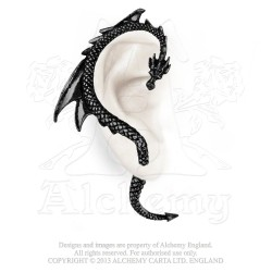 Alchemy Gothic E274B Dragon's Lure Black Stud Ear-Wrap (right)