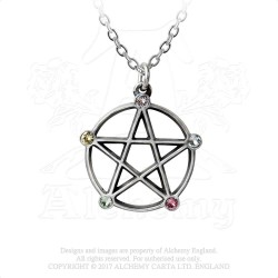 Alchemy Gothic P786 Wiccan Elemental Pentacle