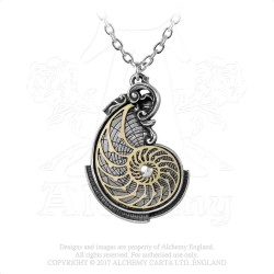 Alchemy Gothic P799 Fibonacci's Golden Spiral