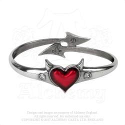 Last Chance! Alchemy Gothic ULFA6 Devil Heart bangle