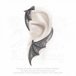 Alchemy Gothic E376 A Night With Goethe Stud Ear-Wrap (left)