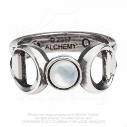 Alchemy Gothic AG-R219 Triple Goddess ring