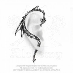 Alchemy Gothic E274R The Dragon's Lure Stud Ear-Wrap (right)