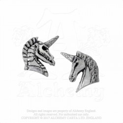 Alchemy Gothic E411 Unicorn Studs (pair)