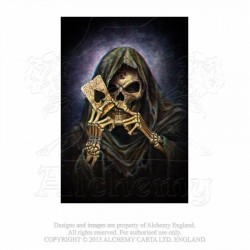 Last chance! Alchemy Gothic ASPC736 Reaper's Ace 3D Lenticular Post Card