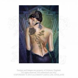 Last chance! Alchemy Gothic ASPC596 Rose des Folies Post Card