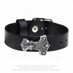 Alchemy Gothic A120 Wenig Thunderhammer leather wriststrap
