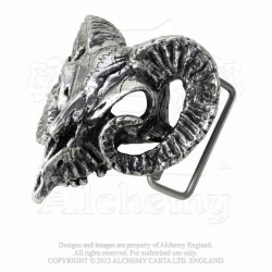 Alchemy Gothic B95 Ram's Skull buckle (belt not included)