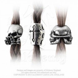 Alchemy Gothic ABR1 Funereal Beard & Hair Beads (set of 3)