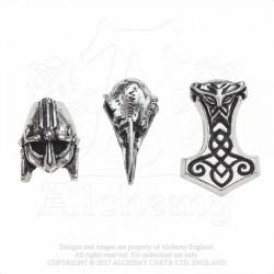 Alchemy Gothic ABR5 Norsebraid Hair Beads (set of 3)
