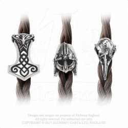 Alchemy Gothic ABR5 Norsebraid Hair Beads (set of 3)