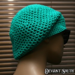 Turquoise Crochetted Beanie
