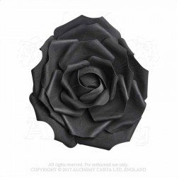 Alchemy Gothic ROSE3 Large Black Rose Head