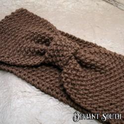 Hazelnut Brown Bow Knit Headband