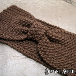 Hazelnut Brown Bow Knit Headband