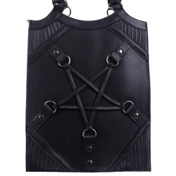 "Restyle ""PENTAGRAM BAG"" Pentagram harness handbag, occult purse"