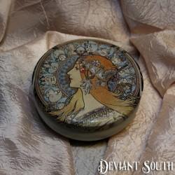 Astrology Zodiac Signs Hippy Gypsy Lady Jewellery Tin - Small