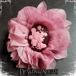 Deviant South Cameo Hair Flower - Pixie