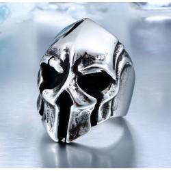 Stainless Steel Mask Biker Helmet Skull Ring
