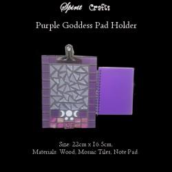 Spirit Crafts Note Pad Holder with Notepad Purple Goddess