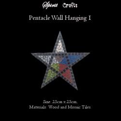 Spirit Crafts Pentacle Wall Hanger Large Black