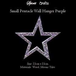 Spirit Crafts Pentacle Wall Hanger Small Purple