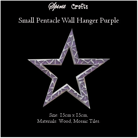 Pentacle Wall Hanger Small Purple