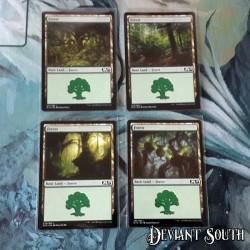 MTG Singles - Core Set 2019 - Basic Lands - Forests (4 cards)