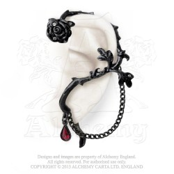 Alchemy Gothic E276 Rose of Passion Ear-wrap (left)