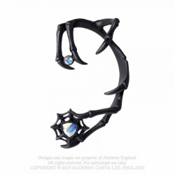 Alchemy Gothic E426B Demon - black ear-wrap (left)