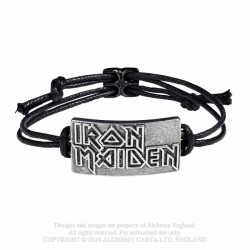 Alchemy Gothic HRWL453 Iron Maiden: Logo Bracelet