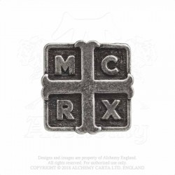 Alchemy Gothic PC508 My Chemical Romance: Cross pin badge brooch
