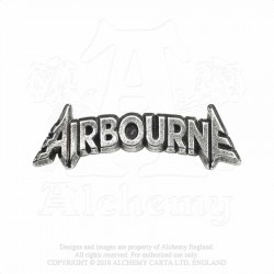 Last Chance! Alchemy Gothic PC509 Airbourne: lettering logo pin badge brooch