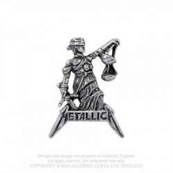 New Release! Alchemy Gothic PC513 Metallica: Justice for All pin badge brooch