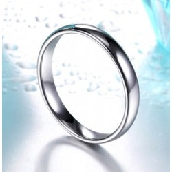 Stainless Steel Slim Curved Band Ring