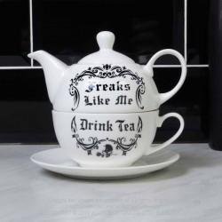 Alchemy Gothic ATS2 Freaks Like Me Drink Tea 'Tea For One Set'