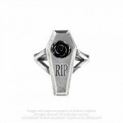 New Release! Alchemy Gothic AG-R235 RIP Rose ring