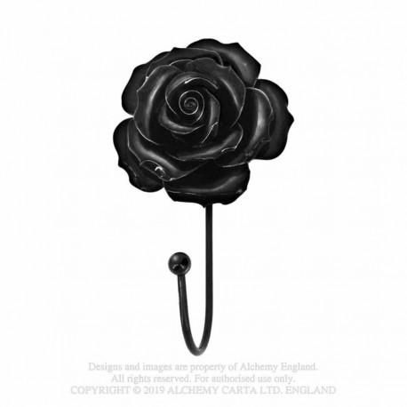 Alchemy Gothic SCR1 Black Rose Hanger / Tie Back