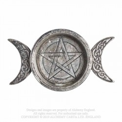 New Release! Alchemy Gothic V85 Triple Moon Trinket Dish / Candle Holder