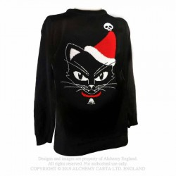New Release! Alchemy Gothic XJ5 Black Cat Christmas Jumper
