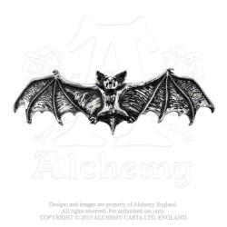 Alchemy Gothic HH1 Darkling Bat Hair Slide