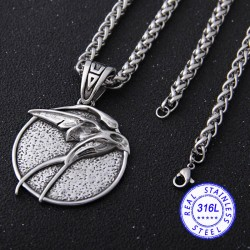 The Witcher Medallion Ciri Stainless Steel Necklace