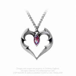 New Release! Alchemy Gothic P900 Batheart - The Vampire's Kiss necklace
