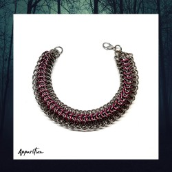 Apparition Pink Dragon Chainmaille Bracelet