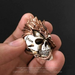 New Release! Alchemy Gothic VM4 Dragon Keepers Skull: Miniature resin ornament