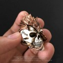 Alchemy Gothic VM4 Dragon Keepers Skull: Miniature resin ornament