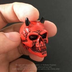 Alchemy Gothic VM5 Demon Skull: Miniature resin ornament