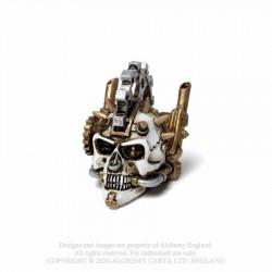 Alchemy Gothic VM8 Steamhead Skull: Miniature resin ornament