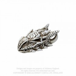 Alchemy Gothic VM9 Dragon Skull: Miniature resin ornament