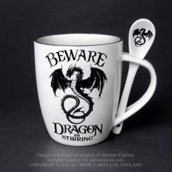 Alchemy Gothic ALMUG14 Dragon is Stirring: Mug and Spoon Set